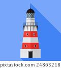 Vector lighthouse icon 24863218