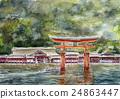 미야지마의 스케치 세계 유산 24863447