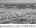 Aerial view snow covered mountains 24863941