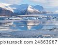 Winter lake natural Iceland landscape 24863967