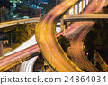 Highway interchanged top view close up 24864034