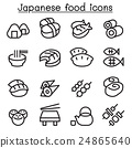 Japanese food icon set in thin line style 24865640