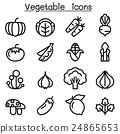 Vegetable icon set in thin line style 24865653