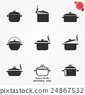pot, icon, vector 24867532