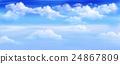 Clouds in a Blue Sky Panorama 24867809