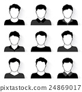 Vector set of people icons 24869017