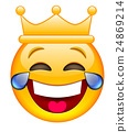 Laughing Face with Crown 24869214