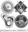 Set of vintage golf labels, badges and emblems 24869417