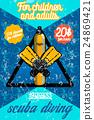Color vintage diving poster 24869421