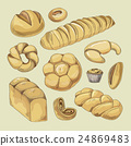 Bakery and pastry products icons set 24869483
