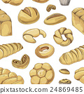 Bakery and pastry products icons set pattern 24869485