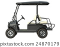 Golf car electric, side view 24870179