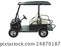 Golf car, side view 24870187