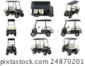 Golf car black set 24870201