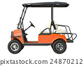 Golf car electric, side view 24870212