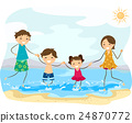 Stickman Family Beach Jump 24870772