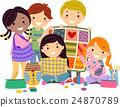 Stickman Kids Sewing Crafts 24870789