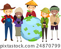 Stickman Farmer Plant Earth 24870799