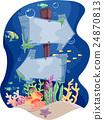 Underwater Signage Direction 24870813