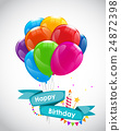 vector, birthday, balloon 24872398