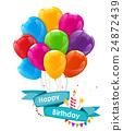 vector, birthday, balloon 24872439