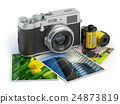 Photo camera and images and film canisters 24873819