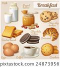 Breakfast 3. Set of cartoon vector food icons 24873956