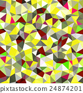 Kaleidoscopic low poly triangle style mosaic 24874201