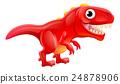 Cute T Rex Cartoon Dinosaur 24878906