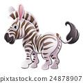 Zebra Animal Cartoon Character 24878907