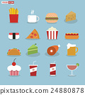 Food icons, flat design 24880878