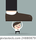 Businessman holding big businessman foot 24880879