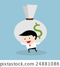 businessman, money, huge 24881086
