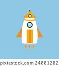 Rocket Space Ship, flat design 24881282