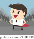 Super businessman,super office man, flat design 24881299