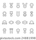 Badges Awards icons set 24881998