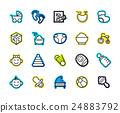 Outline icons thin flat design, modern line stroke 24883792