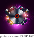 Bright Musi Background of Vinyl Records 24885467