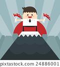 businessman, mountain, top 24886001