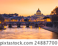 Sunset view of the Vatican city state 24887700