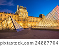 Louvre Museum in central of Paris, France. 24887704