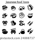 Basic Japanese food icons set 24888737