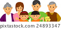Family family illustration (6 people / upper body) 24893347