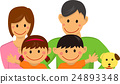 Family family illustration (4 people / upper body) 24893348