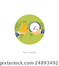Flat vector illustration background. Coins,money 24893492