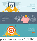 Flat vector illustration background. Coins,money 24893612