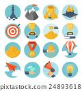 Flat vector illustration background. Money 24893618