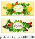 Natural fruits and berries banners 24893686