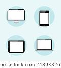 Vector illustration. Realistic laptop, tablet 24893826