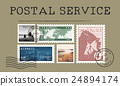 Airmail Mail Postcard Letter Stamp Concept 24894174